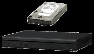 grabador DVR HDCVI y disco duro de 1TB para sistemas de circuito cerrado de televisión CCTV